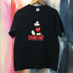 Disney Mickey Mouse Band Aid Promo T-shirt.
